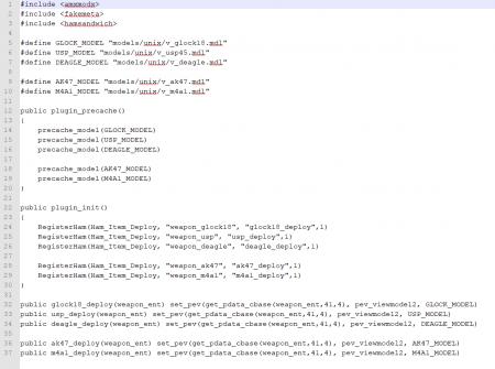 [CS 1.6] Addon - Change models (Смена моделей)
